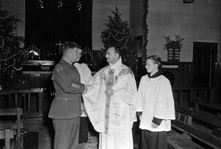 Fort Campbell, KY Chapel at Christmas 24 December 1953