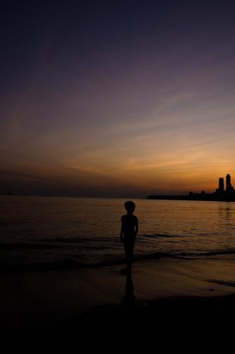 sunset evening chowpatty