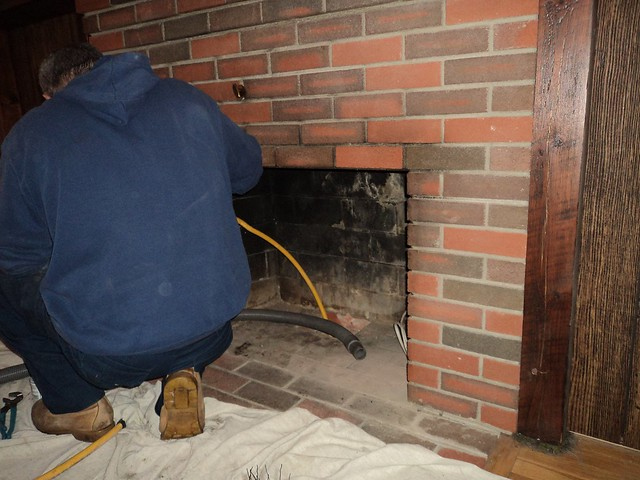 how to run gas line to fireplace