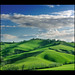 Landscape: Winter Dress is green and blue. by .Gianluca