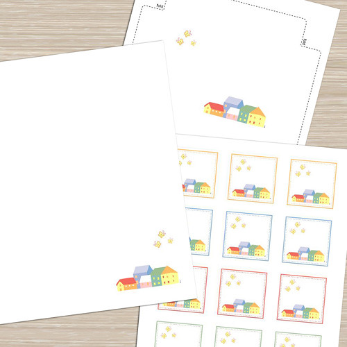 HomeTown - Printable Stationery, Notecards, Tags/Stickers
