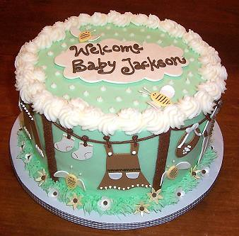 ideas for baby cakes,onesie baby cake