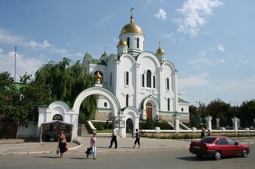 Catedral em Tiraspol capital da Pridnestrovia