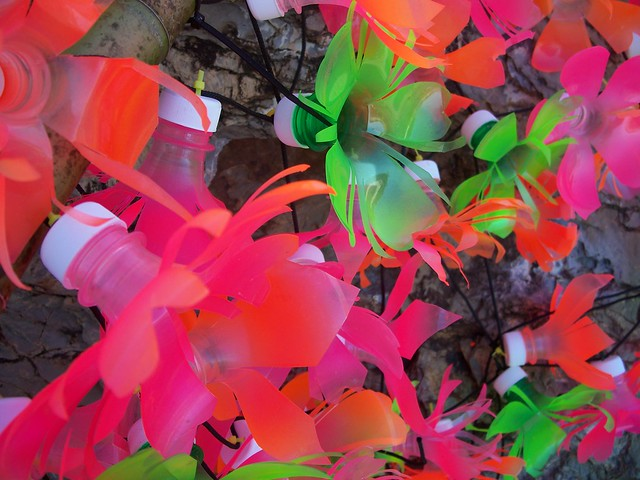How To Make Flower Basket With Plastic Bottle : Plastic bottle flowers up close flickr photo sharing