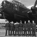 Photo of unidentified Lancaster Bomber No.35 Sqdn and AirCrew, England, World War 2