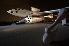 WhiteKnightOne and SpaceShipOne. Credit Jim Koepick