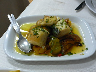 Salt cod with peppers at Casa do Alentejo