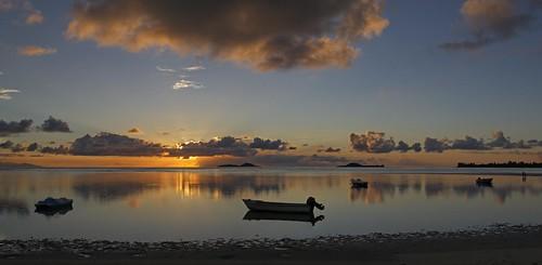 sunset panorama seychelles grandanse praslinisland