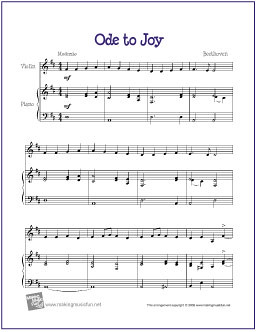 ode to joy sheet music pdf