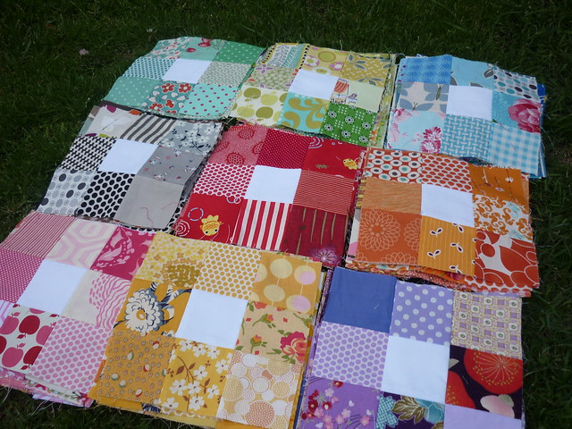 wip rainbow 9patch picnic quilt flickr photo sharing