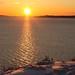 Sunset on Winter Ocean