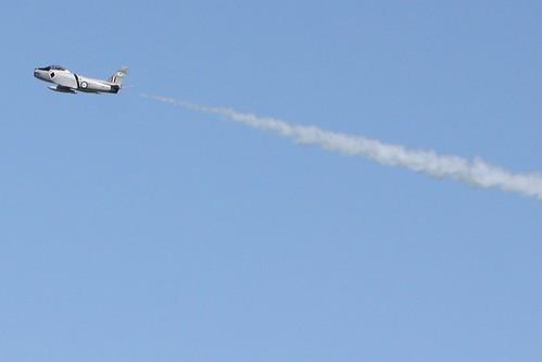 RAAF CA-27 Sabre climbs into the sky