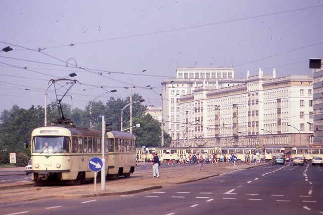 magdeburg tatra tram 1043 ddr may 1990 a busy yet. Black Bedroom Furniture Sets. Home Design Ideas