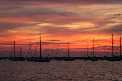Sunset over Atlantic Highlands Marina