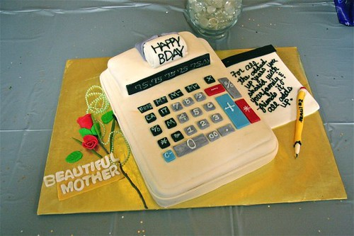 calculator cake ideas