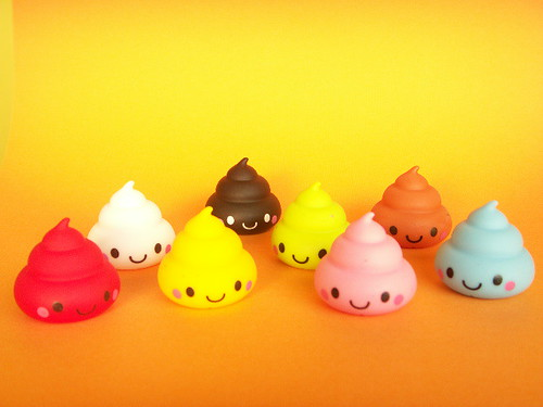 Kawaii Cute Poo Mini Rubber Doll Collection Smile Toy Rare Japan