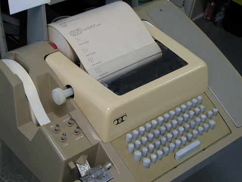 A Teletype Machine