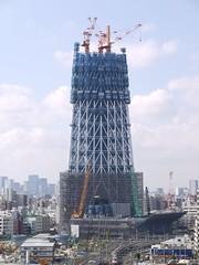 Tokyo Sky Tree under construction