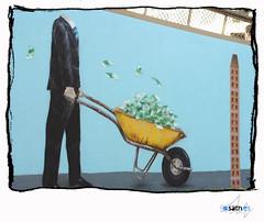 Mural sobre la corrupcion