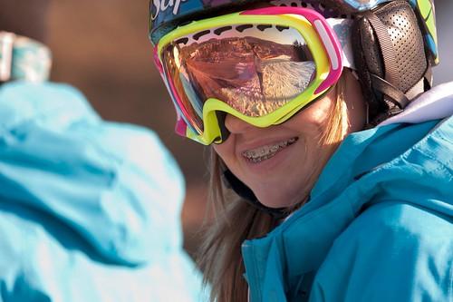 Young skier smiling par marclap22