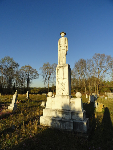 B.O. Dawkins Monument, Around Cragford AL