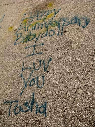 parkinglot babydoll spraypaint happyanniversary spraypainted iluvyou whitecounty sunsetrock bmok bmok2