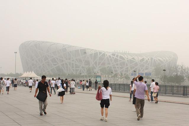 Bird's Nest Stadium & Beijing Smog