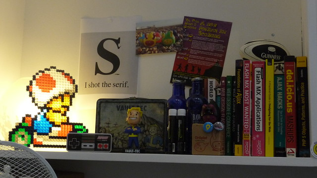 Geek shelf by Aaron Bassett