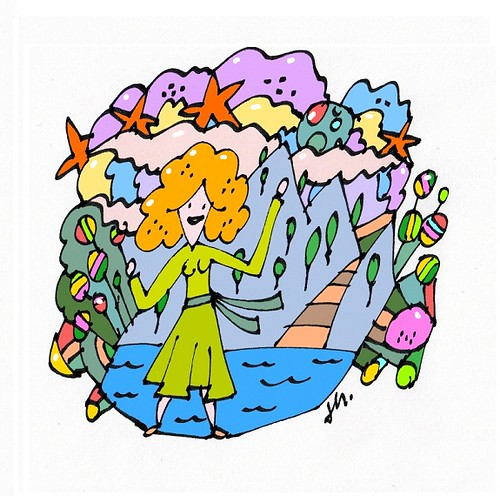 girl at the dream's color-world