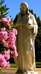 Statue of St. Bartholomew at Oak Hill Memorial Park in San Jose, California