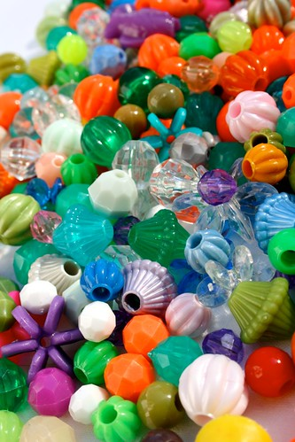 Coloured beads