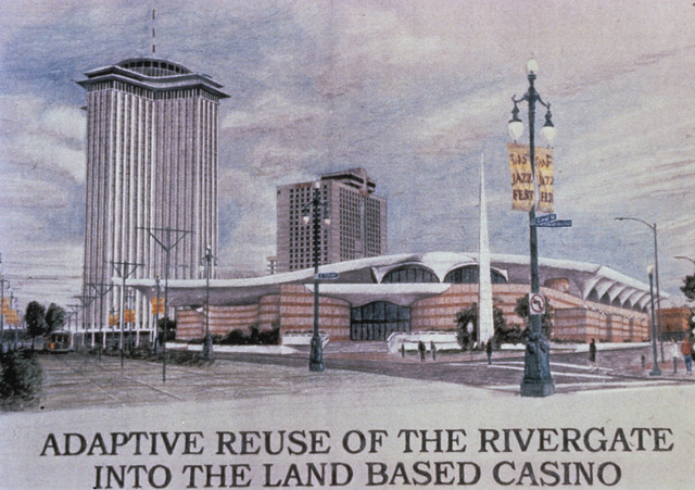 Adaptive reuse of the rivergate into the land based casino for The rivergate