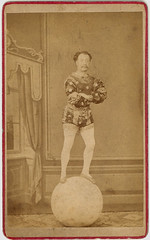 An acrobat on a ball- cdv