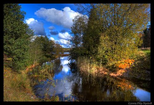 autumn river hdr dalsland färgelanda björvattnet