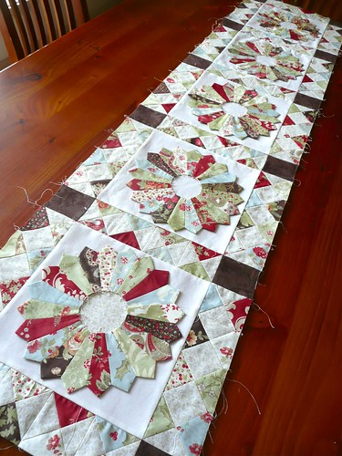 Table runner in progress