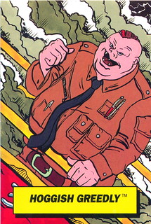 Hoggish Greedly - Captain Planet Dunkin Donuts Card - Front