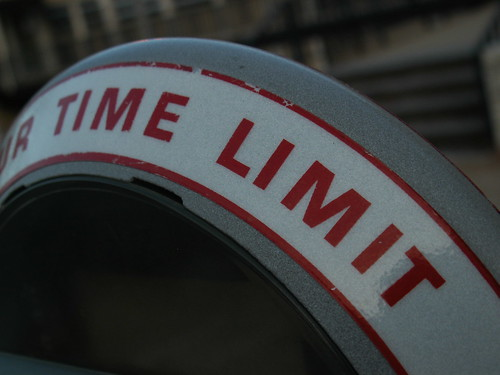 """""""Time Limit"""" as seen on a parking meter."""