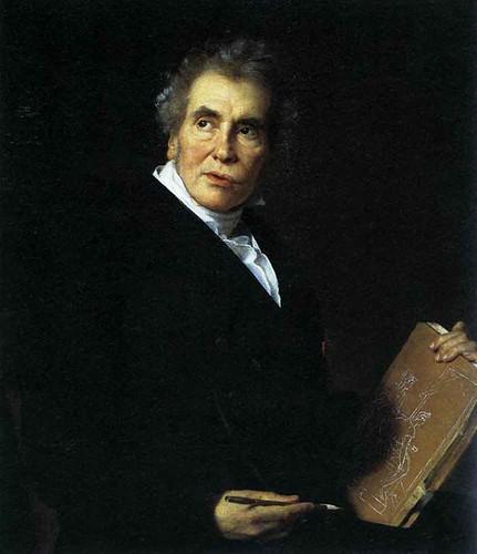 Langlois, Jerome Martin (1779-1838) - 1824 Portrait of the Artist Jacques louis David (Louvre, Paris)