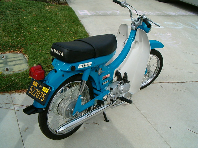 1966 yamaha u5 scooter 1966 50cc motorcycle from yamaha 6 flickr photo sharing. Black Bedroom Furniture Sets. Home Design Ideas