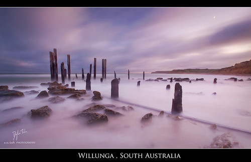 longexposure light moon beach sunrise landscape dawn pier rocks jetty south australia crescent explore southaustralia waterscape willunga explored auselite