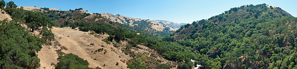 Canyon and trail panorama