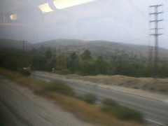East out of Moorpark on the Metrolink. Lovely overcast.