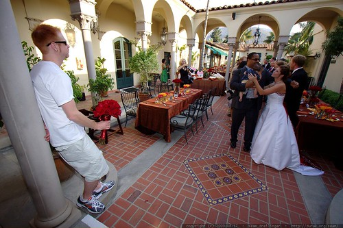 event planner (travis?) watching the receiving line    MG 2526
