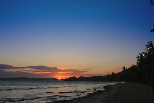 sunset beach puertorico caribbean guanica canon40d