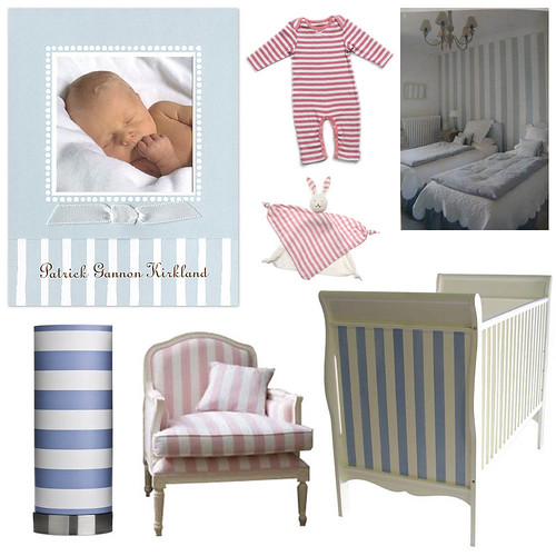 Cabana Stripes Nursery by finestationery