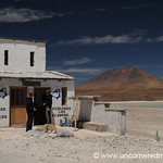 A Fine Bathroom in the Desert - Salar Tour, Bolivia