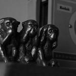 Los tres monos sabios....