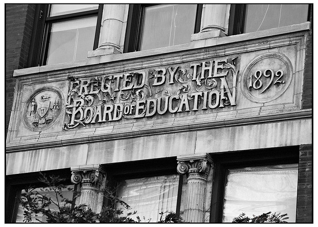 Erected by the Board of Education 1892