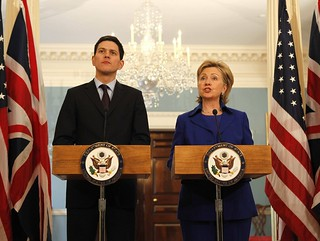 David when Foreign Secretary with Hilary Clinton