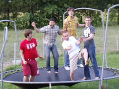 outdoor play equipment, trampolining--equipment and supplies, play, trampoline, public space,